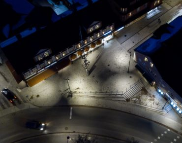 Centrumutveckling Leksand Flygfoto